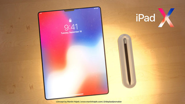 iPad Pro mới giống iPhone X