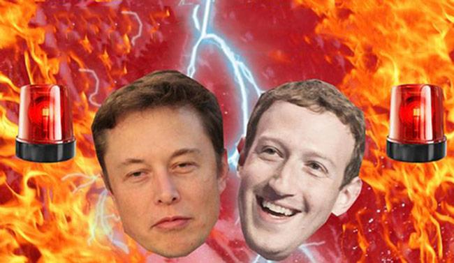 'Khẩu chiến' giữa Elon Musk và Mark Zuckerberg