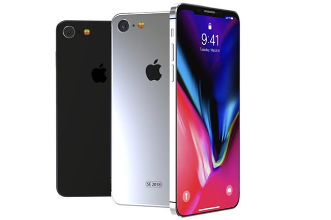 Concept thiết kế iPhone SE thế hệ thứ hai.