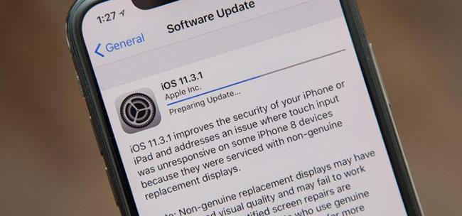 Apple phát hành iOS 11.3.1 cải thiện bảo mật