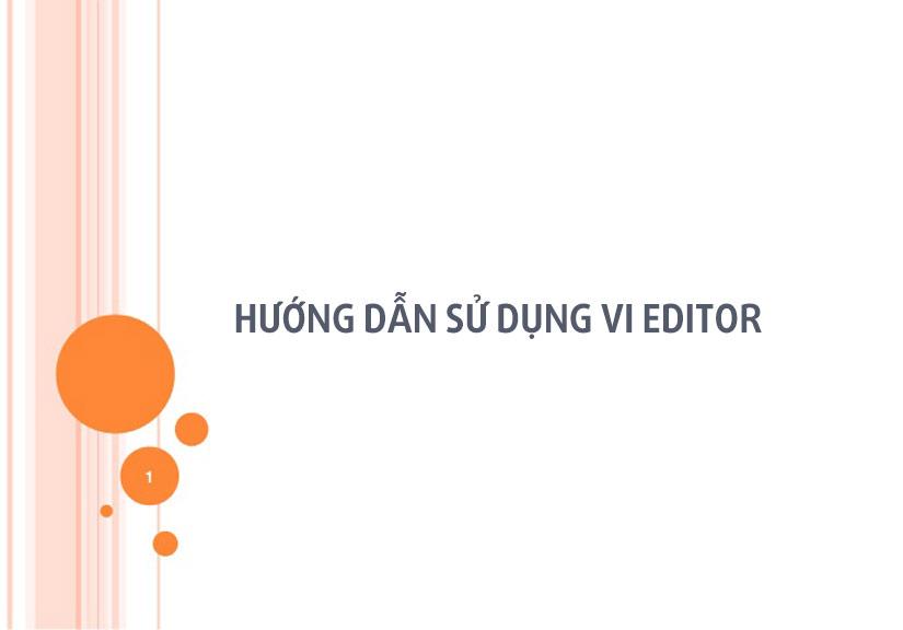 Hướng dẫn sử dụng text editor vi trong linux