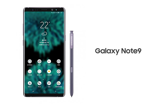 Samsung Galaxy Note9 lộ ảnh