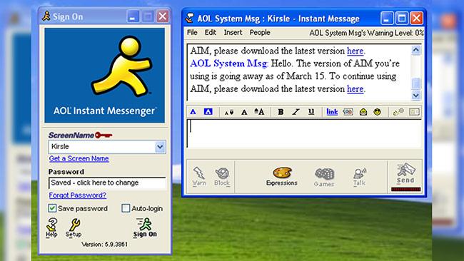 dịch vụ nhắn tin AIM