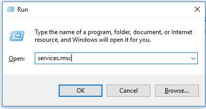 """Trên màn hình máy tính bạn sử dụng tổ hợp phím Windows + R để mở hộp lệnh Run và gõ vào đó """"Services.msc """" và nhấn OK nhé."""