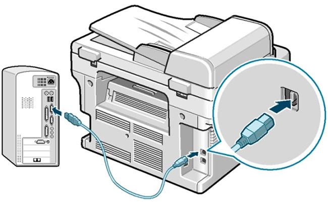 Kiểm Tra Kết Nối Cáp, Nguồn máy in