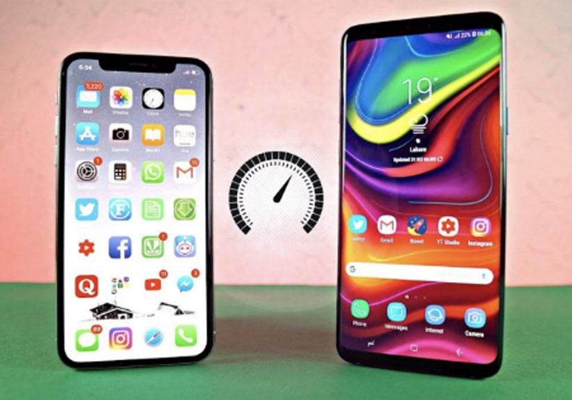 Đọ tốc độ Internet, bộ đôi Galaxy S9 bỏ xa iPhone X