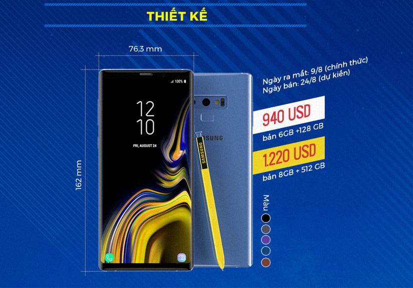 Chân dung Galaxy Note9 trước ngày ra mắt