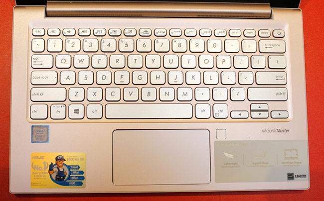 Bàn phím thực sự là điểm cộng của sản phẩm với kích thước phím lớn