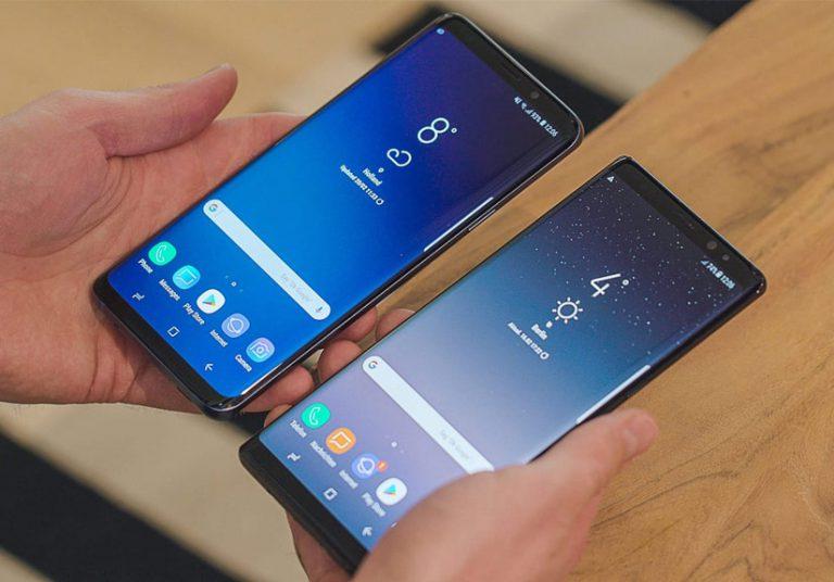 Galaxy S9 và Note9 đều phải sử dụng cảm biến vân tay nằm ở mặt lưng.