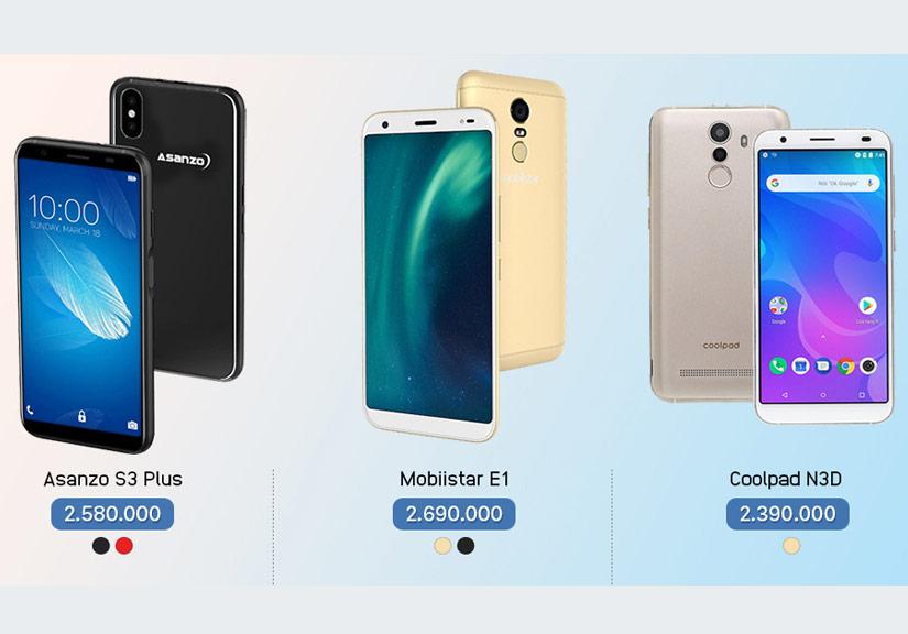 3 smartphone tầm giá 2 triệu đồng đọ sức