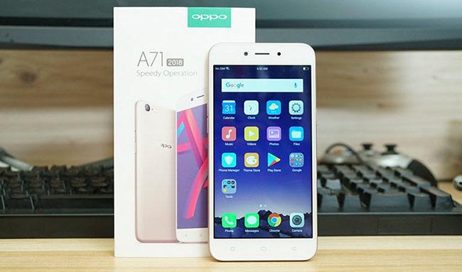 Điện thoại OPPO A71 32 GB (3,89 triệu đồng)