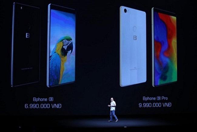 CEO Nguyễn Tử Quảng công bố giá hai phiên bản Bphone 3.