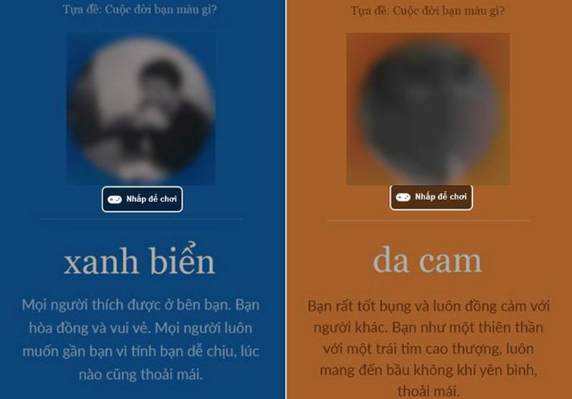 Cảnh báo khi chơi 'Cuộc đời bạn màu gì' trên facebook bị lộ thông tin