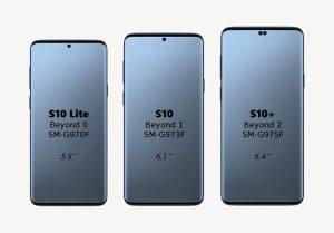 Bộ ba smartphone dòng Galaxy S10 lộ diện