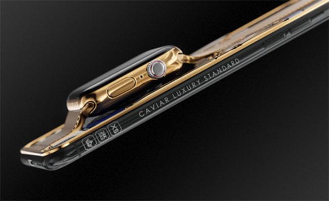 iPhone XS Max giá 21.000 USD tích hợp đồng hồ Apple Watch
