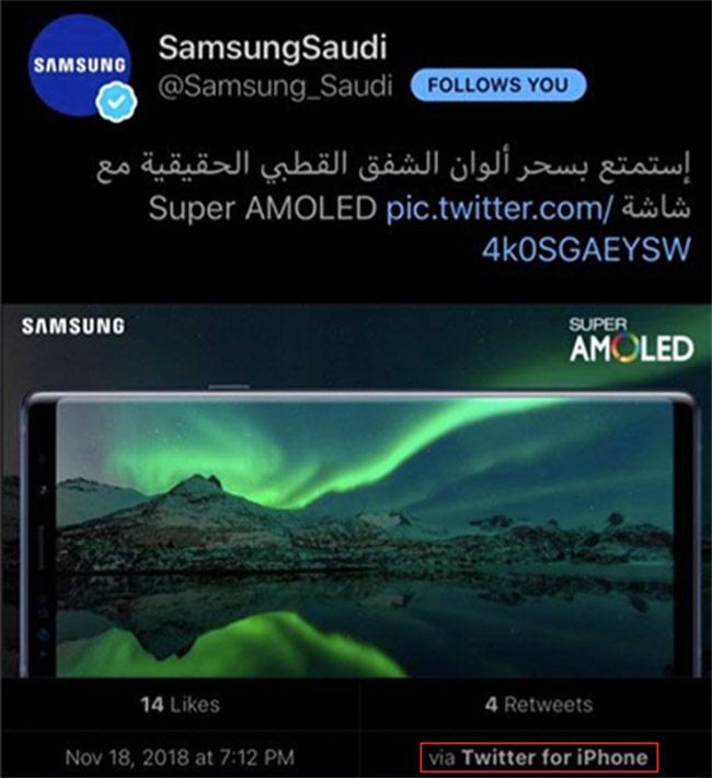 Samsung Nigeria 'dùng nhầm' iPhone để quảng cáo Note9