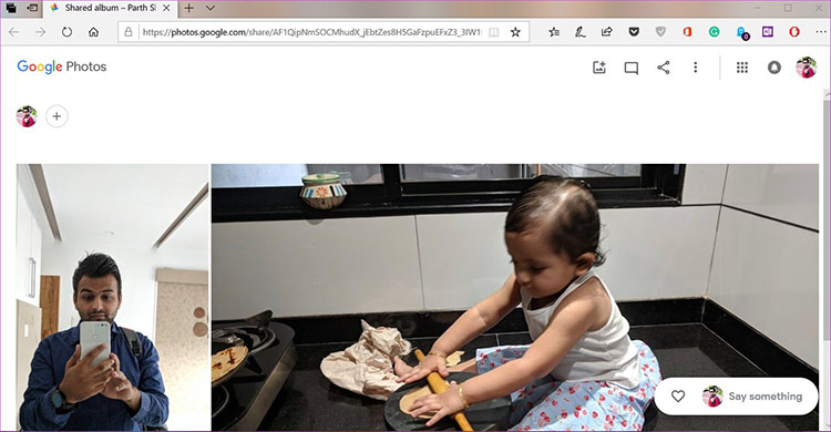 ứng dụng sẽ tải hình ảnh lên máy chủ Google Photos và tạo liên kết tương ứng, bạn chỉ cần chia sẻ liên kết này bằng Continue on PC
