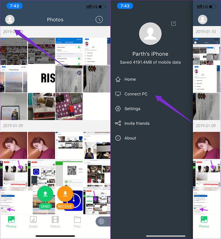 phần mềm Xender cho iPhone thông qua App Store