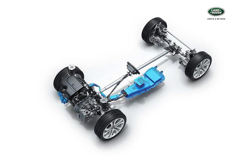 Hệ động lực mild hybrid của Land Rover.