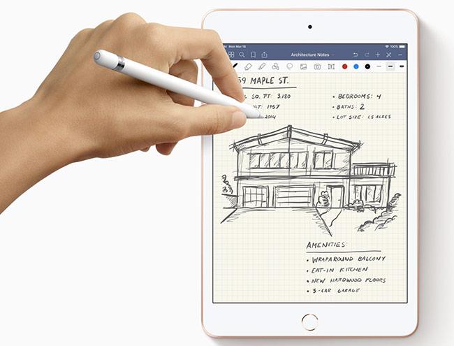 iPad Air mới cũng được trang bị bút Apple Pencil