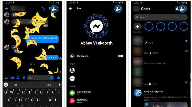Cách chuyển Facebook Messenger qua chế độ Dark mode