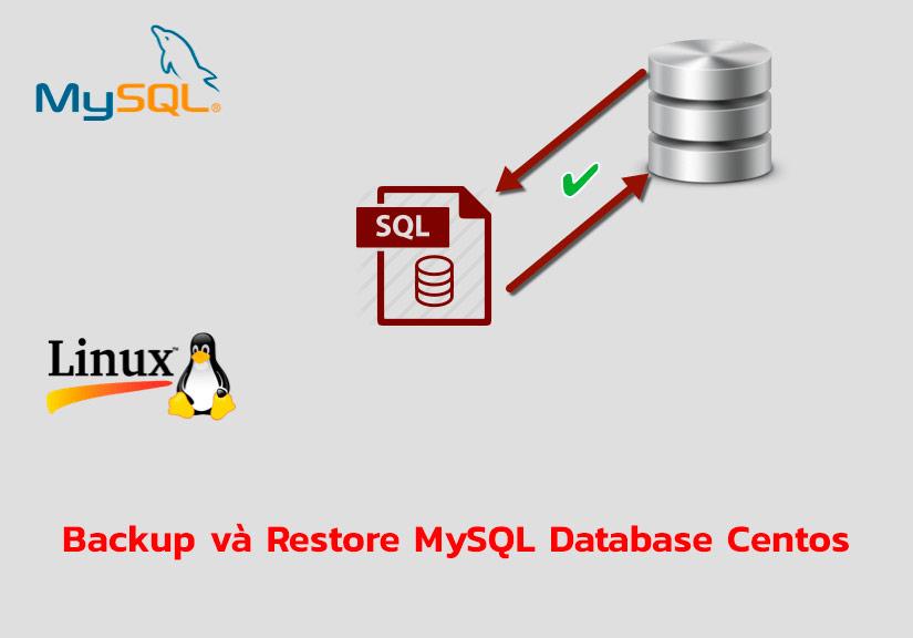 Hướng dẫn Backup và Restore MySQL Database bằng lệnh