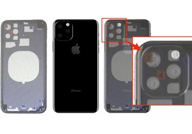 iPhone XI lộ thiết kế camera tam giác