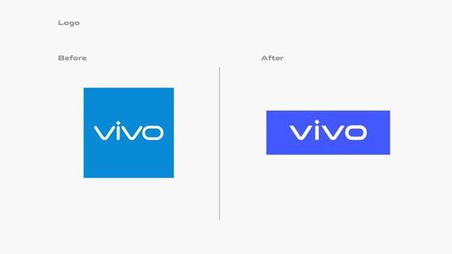 Logo Vivo cũ (trái) và mới (phải).
