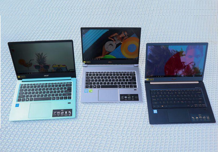 Bộ ba laptop Acer Swift về Việt Nam, giá từ 10 triệu đồng