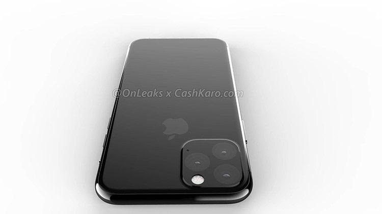 Cụm camera khó tin này chứa 3 ống kính đặt theo hình tam giác và một đèn flash khá lớn, một lỗ micro. Toàn bộ mặt sau của máy được ốp một tấm kính nguyên khối, trùm lên cả cụm camera. Đây có thể là thiết kế rất mới của Apple.
