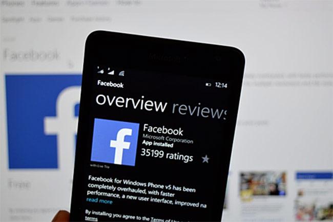 Facebook rút ứng dụng khỏi Windows Phone từ 30/4