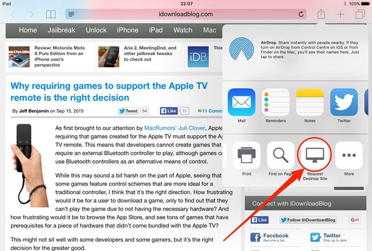 Safari thông minh hơn: Ở bản cập nhật iOS 13, trình duyệt Safari có thể hiển thị trang web dạng desktop trên iPad. Tính năng này đồng thời ngăn không cho những website hiển thị ở dạng mobile như trên iPhone, giúp tận dụng tối đa kích thước màn hình lớn của iPad.