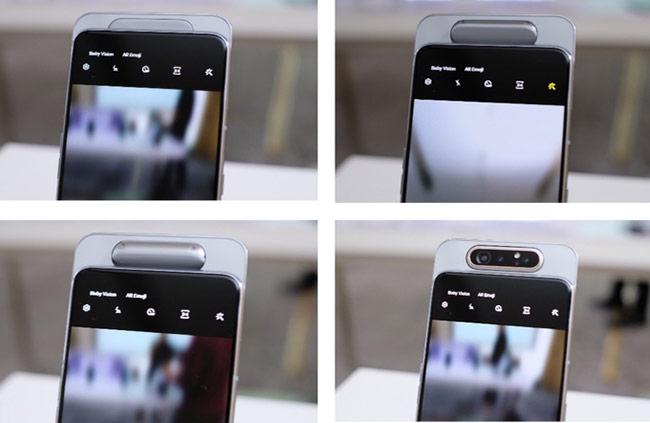 Khi mở ứng dụng chụp ảnh, cụm ba camea hoạt động như thông thường với giao diện chụp quen thuộc của Samsung
