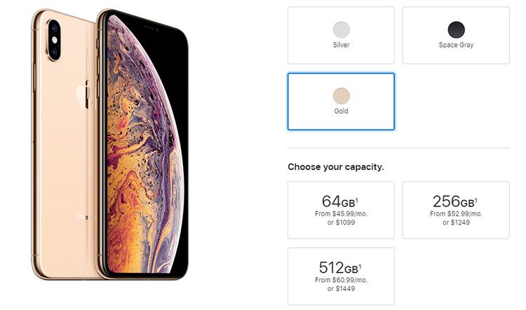 lựa chọn bộ nhớ iPhone