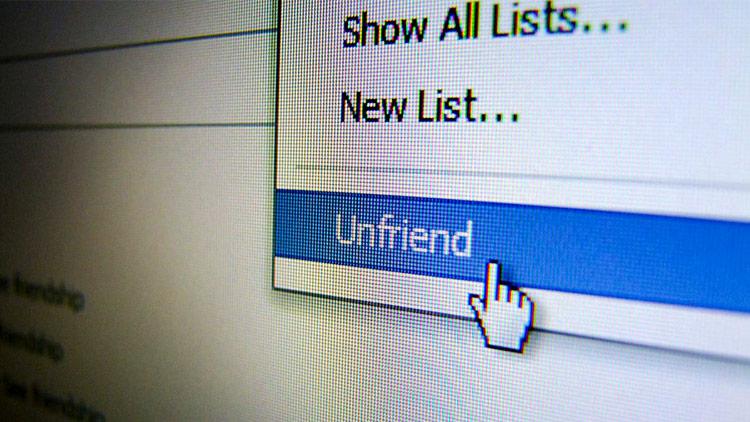 Việc hủy kết bạn với những người không quen biết có thể có ích cho người dùng mạng xã hội. Ảnh: BI.