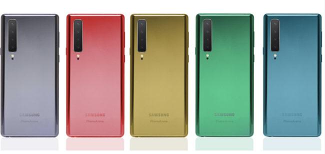 Sản phẩm cao cấp sắp tới của Samsung đang được cho có tới 5 màu sắc khác nhau và dùng kiểu phối màu đậm nhạt Gradient.