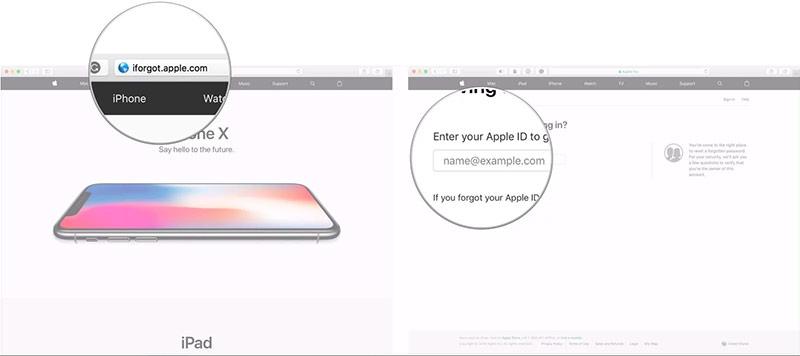 Nhập địa chỉ email Apple ID của bạn