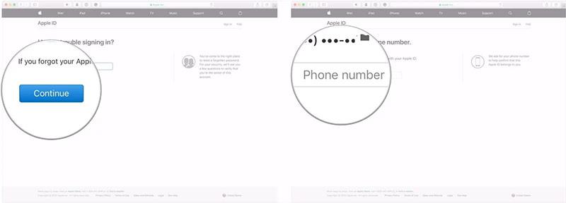 Nhập số điện thoại được liên kết với ID Apple.