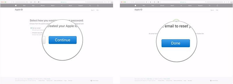 Apple sẽ gửi cho bạn một email xác nhận với tiêu đề How to reset your Apple ID password