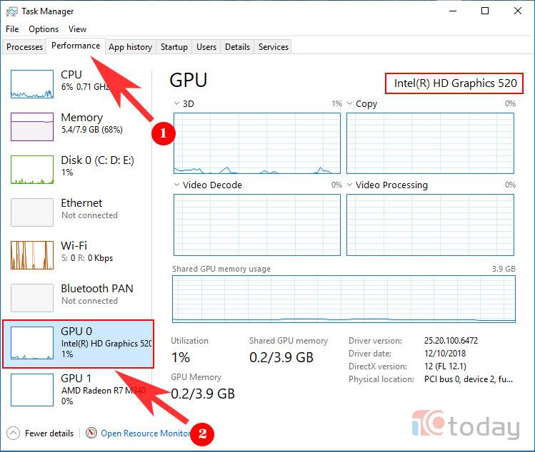 Cách xem GPU (Card đồ họa) trên máy tính