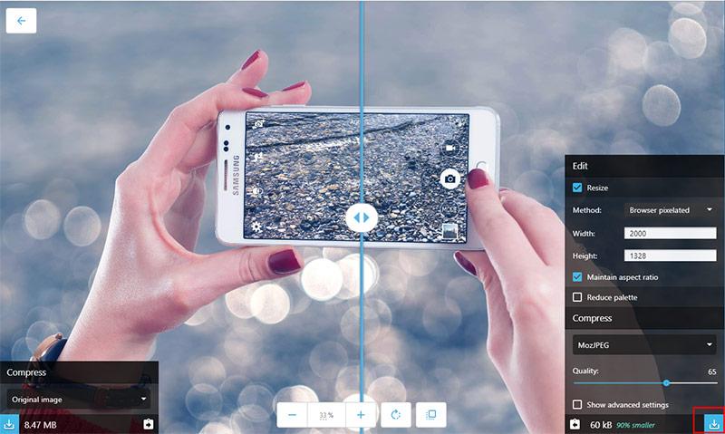 Cách nén ảnh giữ nguyên chất lượng bằng công cụ của Google