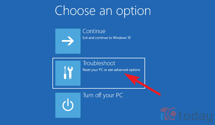 Choose an Option, Troubleshoot