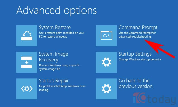 sửa lỗi 0xc000021a trên Windows 10 bạn chọn Command Prompt