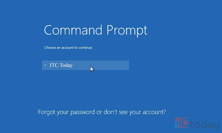 Hệ thống sẽ khởi động lại và tự động đưa bạn vào Command Prompt sau khi đăng nhập tài khoản máy tính vào.
