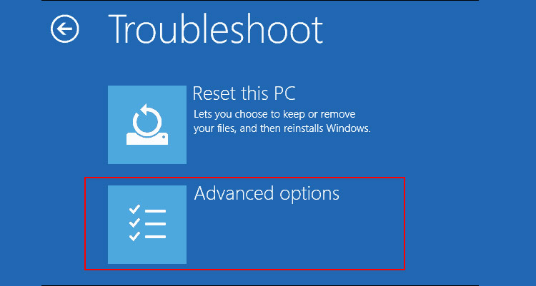reset windows 10 Troubleshoot