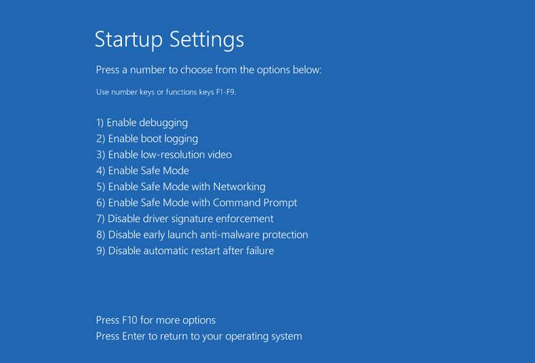 Khi thấy xuất hiện màn hình Safe mode options, bạn nhấn phím F4 hoặc phím 4 để khởi động Windows ở chế độ Safe Mode