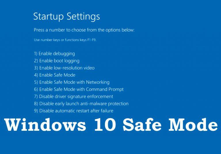 Cách vào Safe Mode Windows 10 khi khởi động