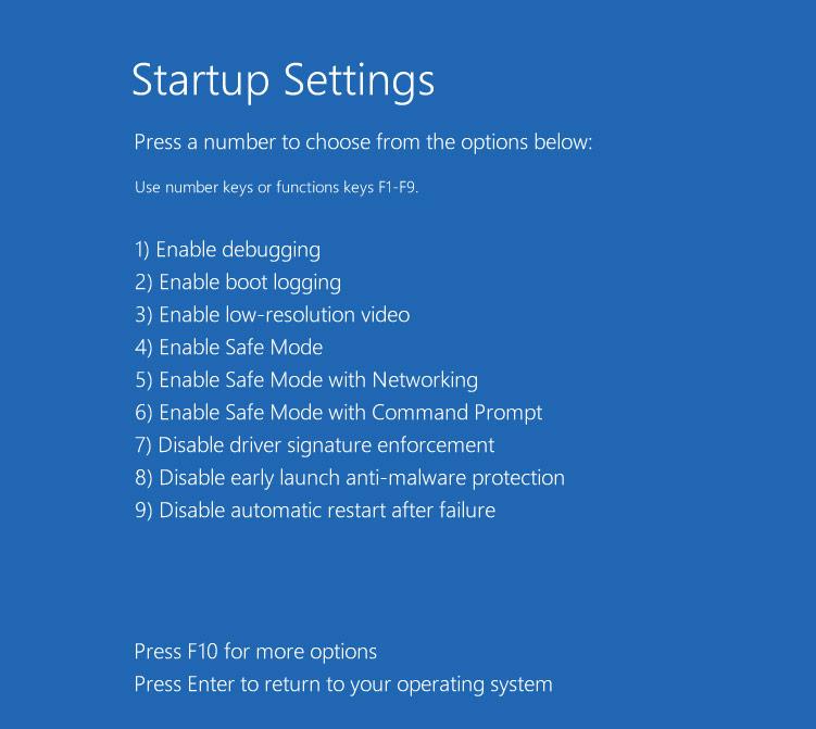 khởi động Windows 10 ở chế độ Safe Mode.