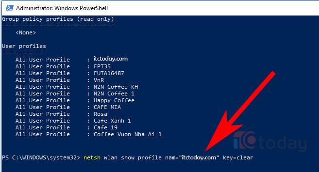 Cách xem mật khẩu Wifi đã lưu trên Windows 10