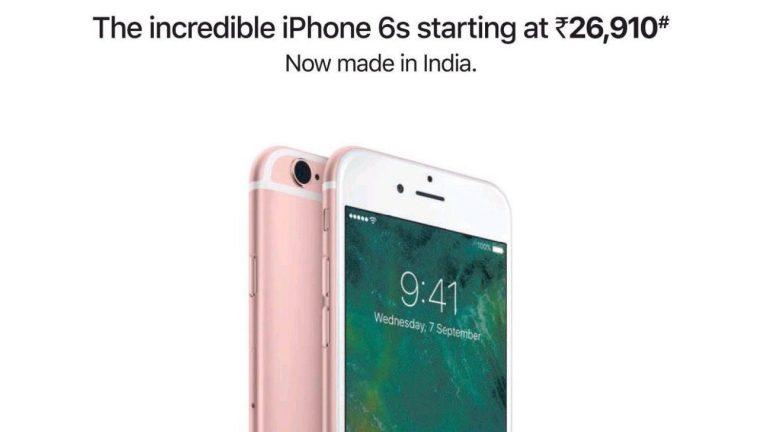 Quảng cáo iPhone 6s tại Ấn Độ, nhấn mạnh việc được sản xuất nội địa. Ảnh: Varun Krishna.